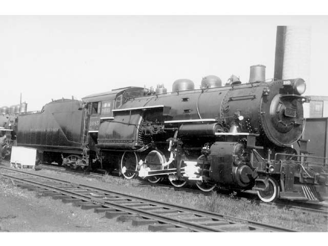 D&H 1085 TYPE:  2-8-0  CLASS:  E-5  DATE:  c. 1946  LOCATION:  not recorded  NOTES:  Date is approximate.  PHOTOGRAPHER:  Henry Tischler,  (Jim Wright Collection)