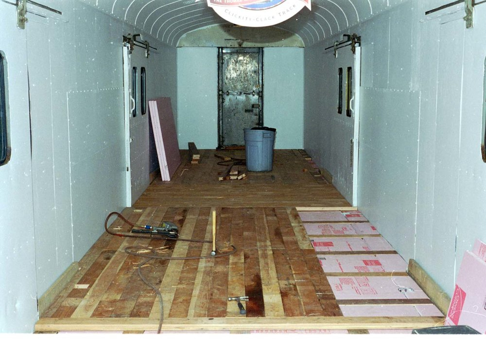 New flooring being installed.