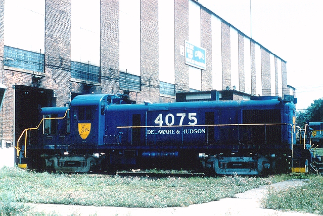 D&H 4075 (2nd)  Sitting outside Colonie Workshops in Watervliet, NY in August, 1978.  Kevin J. Endriss photo.