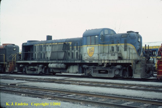 D&H 4116  In Lightning Stripe at Colonie in May, 1976.  Kevin J. Endriss photo