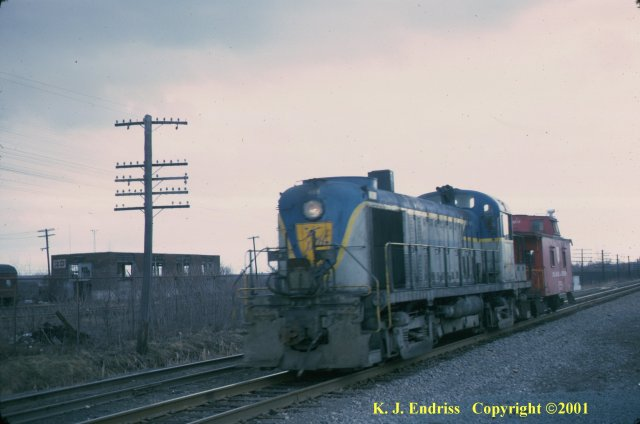 D&H 4119  In Lightning Stripe at Colonie in February, 1975.  Kevin J. Endriss photo