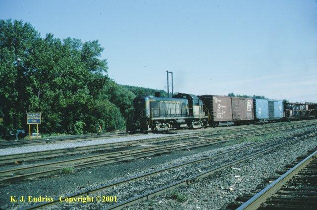 D&H 4126  In Lightning Stripe at Mechanicville in October, 1978.  Kevin J. Endriss photo
