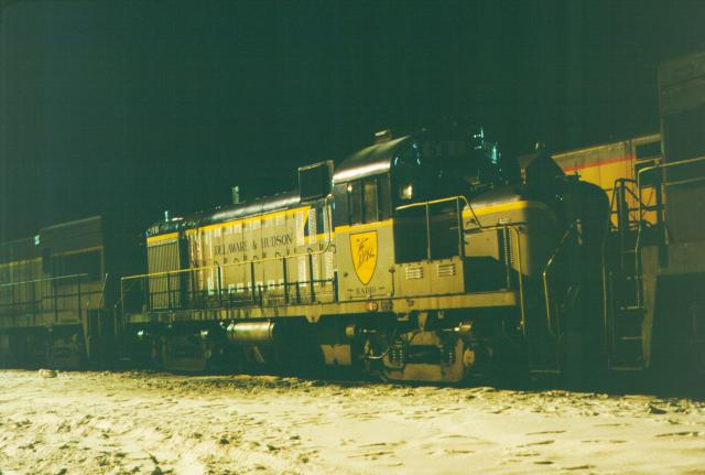 D&H 501  In Lightning Stripe at Mechanicville in March, 1977.  Kevin Endriss photo