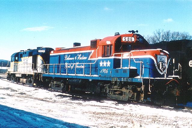 D&H 506  At Binghamton, NY in November 1986.  Bill Mischler photo