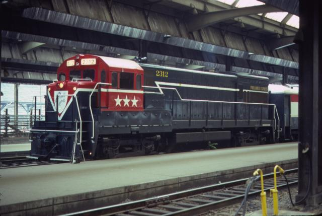 D&H U23B #2312 on the Preamble Express in Pittsburgh, PA on July 18, 1974.  Jay Winn collection