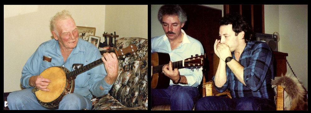 Dad on Banjo, cousin Lionel on Guitar, Tank on Harp.