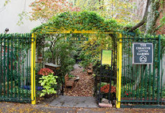 RENEWAL - The Creative Little Garden is now an oasis of tranquility in New York's East Village once again. It's a