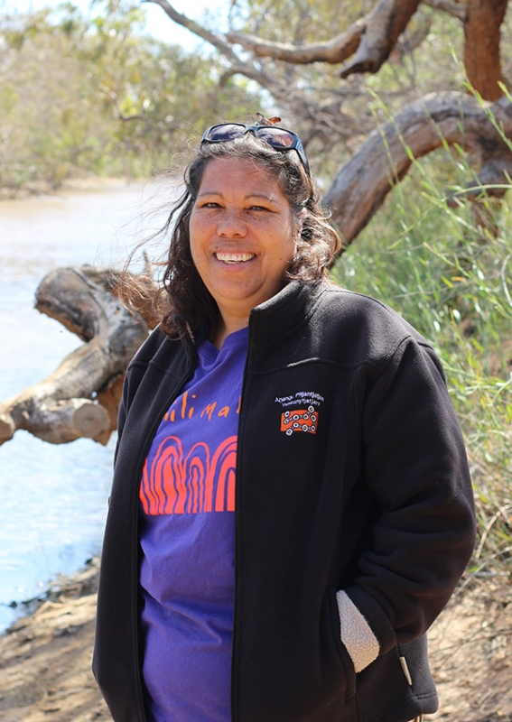 Maria Stewart on the Neale, Oodnadatta (Photograph: Paul Monaghan)