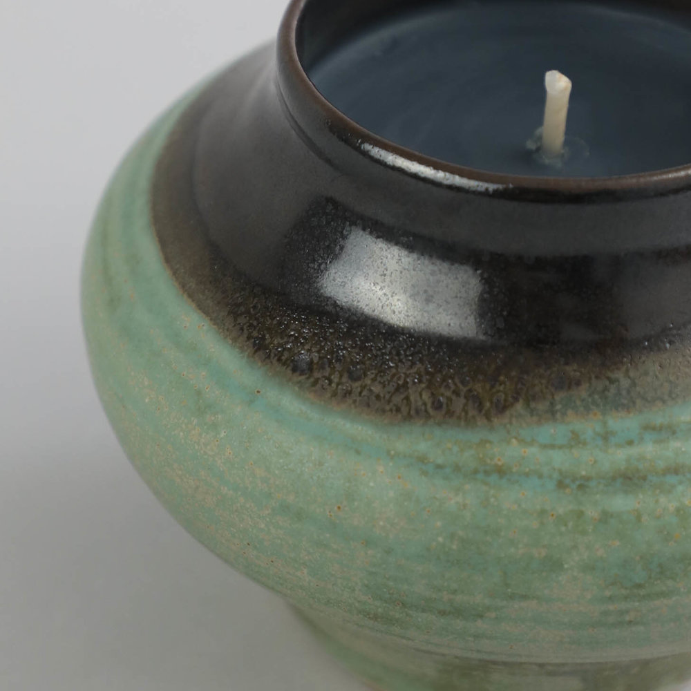 IN GOOD COMPANY x VES. Two-Tone Rounded Vessel w: Candle_11.5x13.2_Celadon_RP219_3.jpg