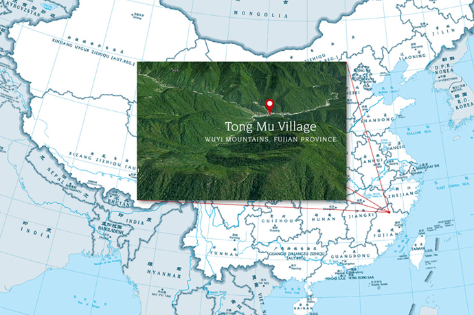 Locale of Tong Mu village relative to the map of China. (Image source: chinadiscovery.com)