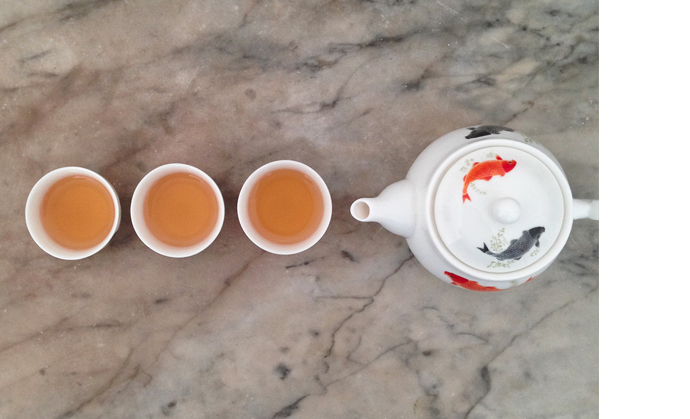 Secret tea ritual of Hong Kong's triad.