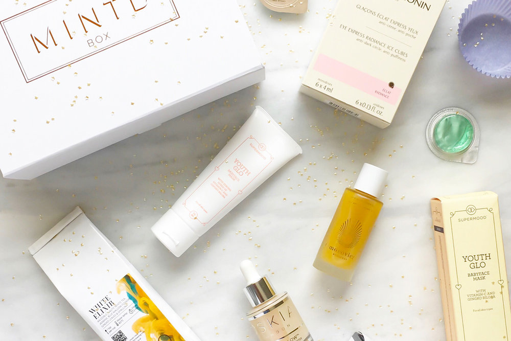 Quinteassential and Mintd Box, a monthly luxury beauty subscription box