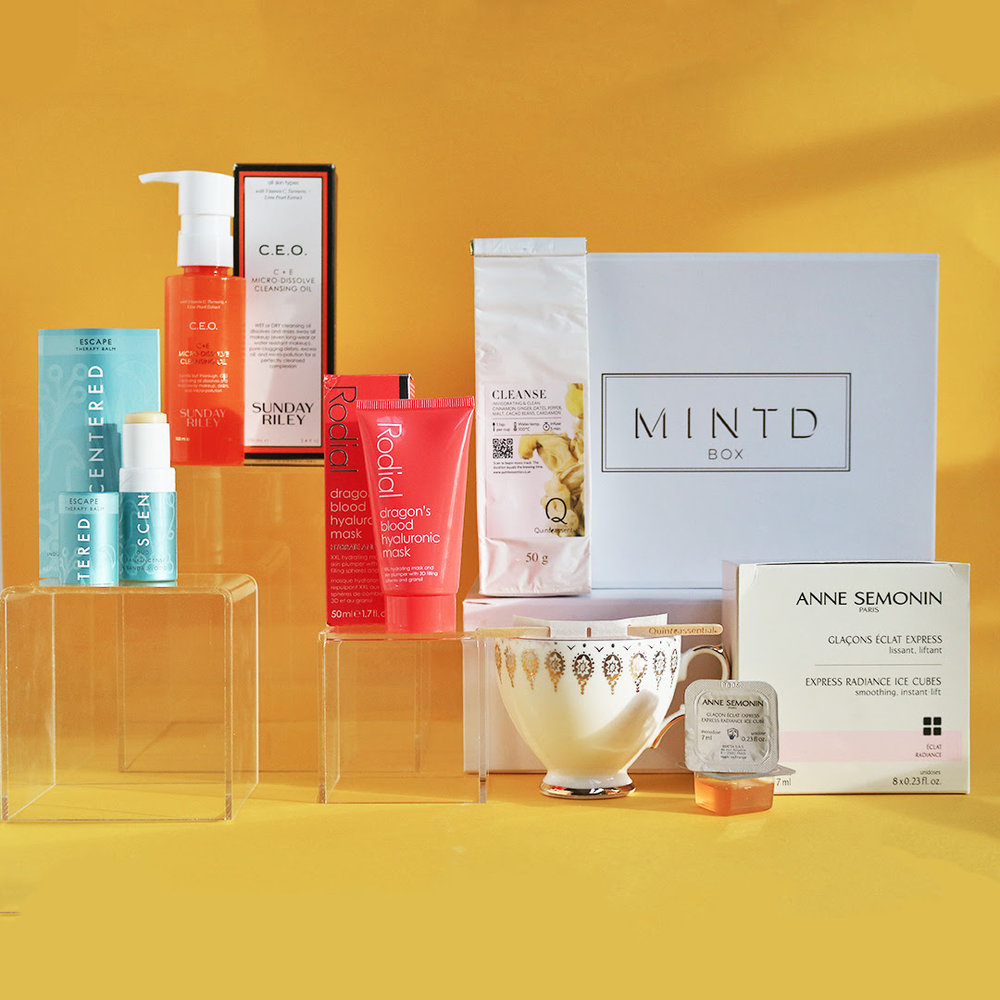 - Depending on the subscription box's theme, Quinteassential consulted with Mintd Box and proposed the best tea blend that fits with the box concept.For example, Mintd Box's Recharge edition is a curated range of exquisite products to awaken tired skin in the new year. Quinteassential proposed its Cleanse blend which is an award winning chai style herbal tea with its spicy notes to flood the senses, soothing the body.