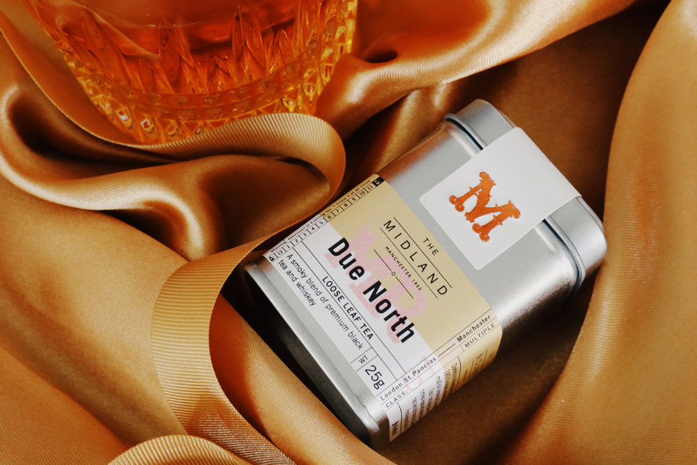 Due North, lapsang souchong black tea with whiskey, smoky whiskey tea