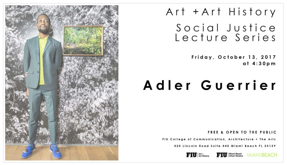 Artist    Adler Guerrier    was born in Port-au-Prince, Haiti and lives and works in Miami, FL