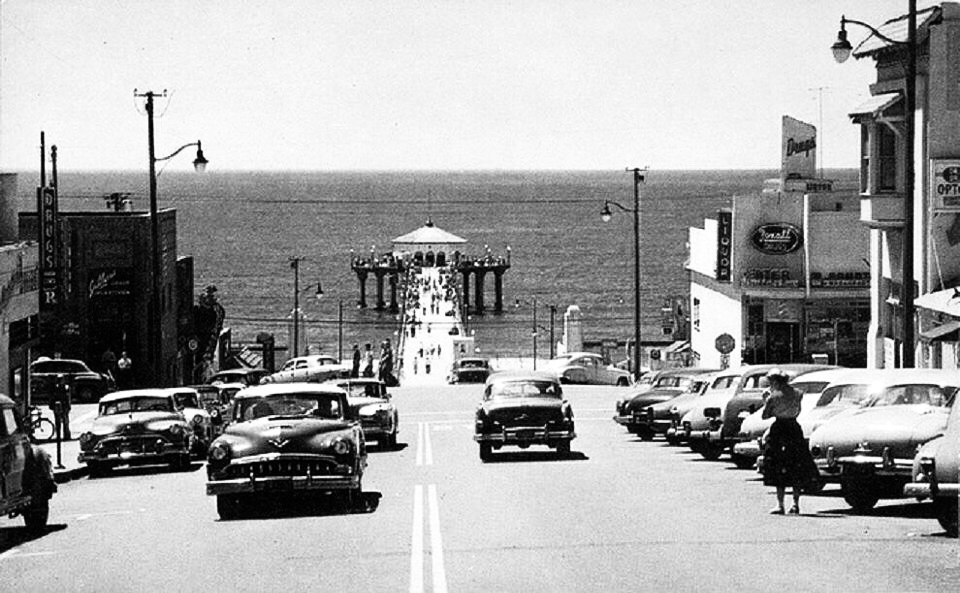Manhattan Beach in the 1950s.