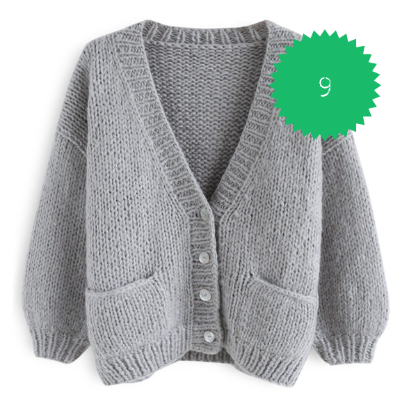 chic wish hand knit grey cardigan.png