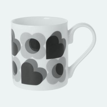 Orla kiely love hearts mug - £11