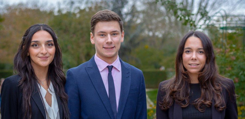 De gauche à droite : Sofia GONCALVES, Alexandre DIRINGER, Camille JOSA