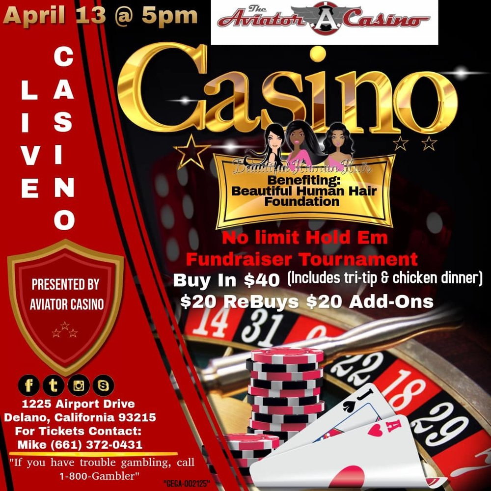 On April 13th at 5pm, we will be hosting a No Limit Hold 'em fundraiser tournament for the Beautiful Human Hair Foundation. Tickets are $40 and they include the buy-in to the tournament and a tri-tip & chicken dinner. There are re-buys and add-ons available at the break for $20. For tickets, please contact Mike at 661-372-0431.
