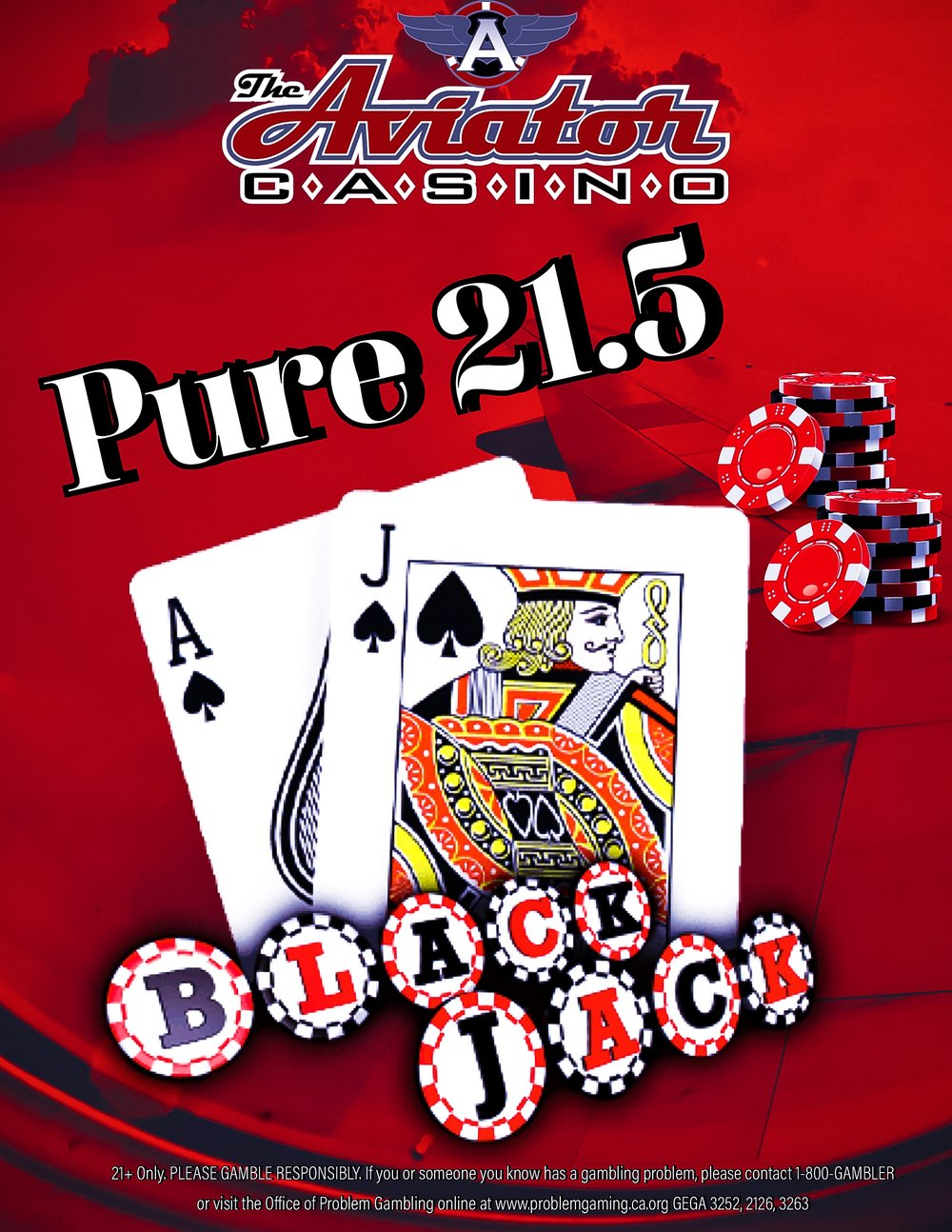 Pure 21.5 Blackjack w/ Red Flex & Buster Bet - We offer Pure 21.5 Blackjack! Enjoy the game the way it was meant to be playedGEGA 3252, 2126, 3263