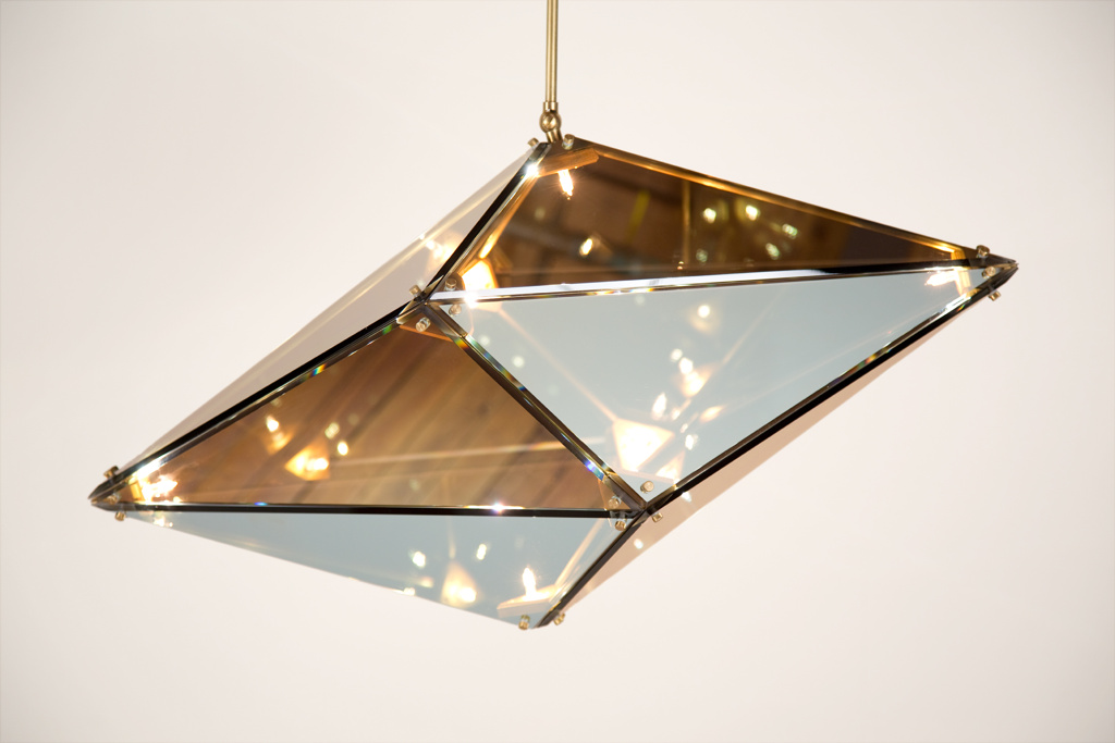 Maxhedron two way mirror brushed brass