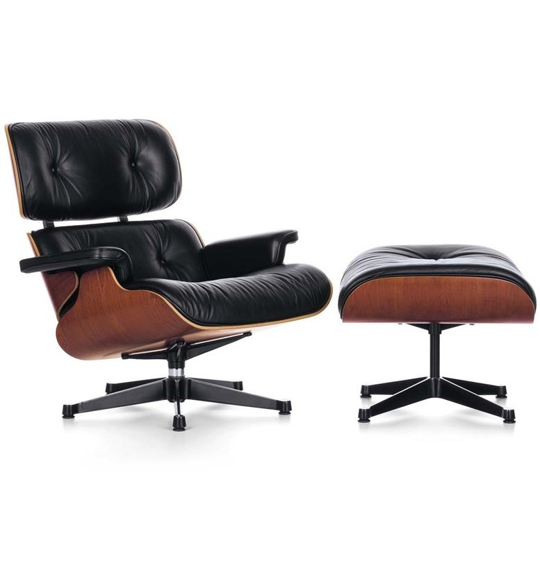 Vitra Lounge Chair and Ottoman by Charles & Ray Eames reproduction furniture