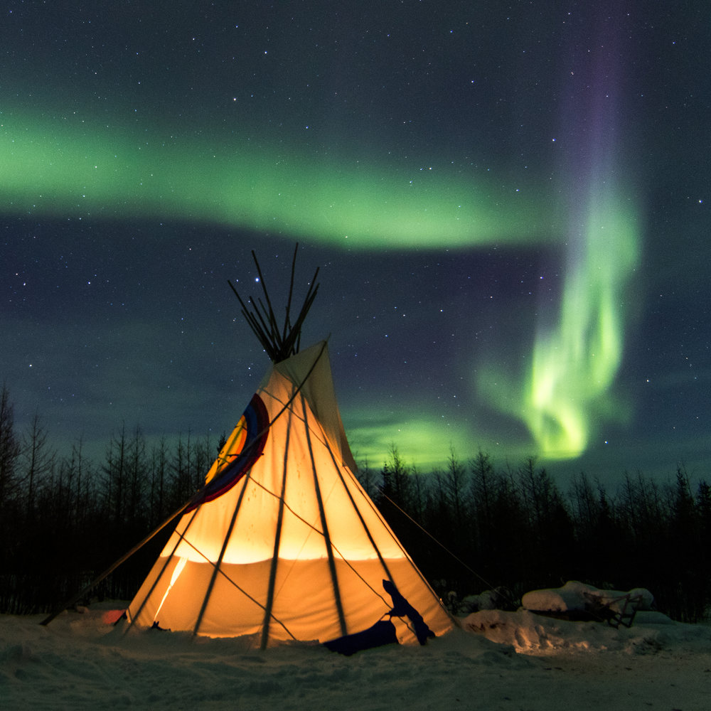 Churchill auroras at Wapusk Adventures