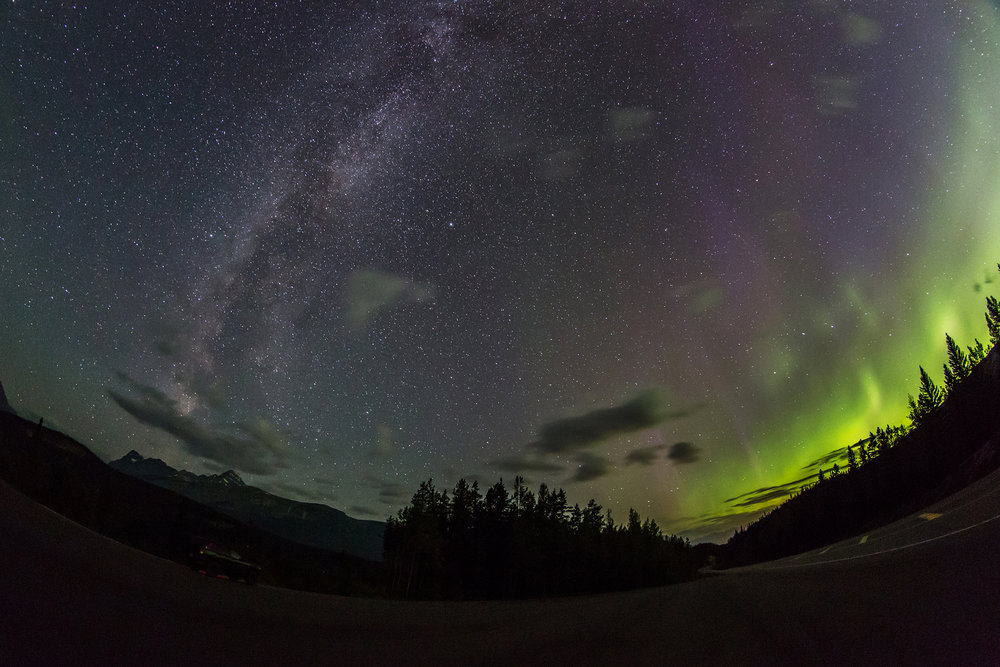 Auroras vs. The Milky Way