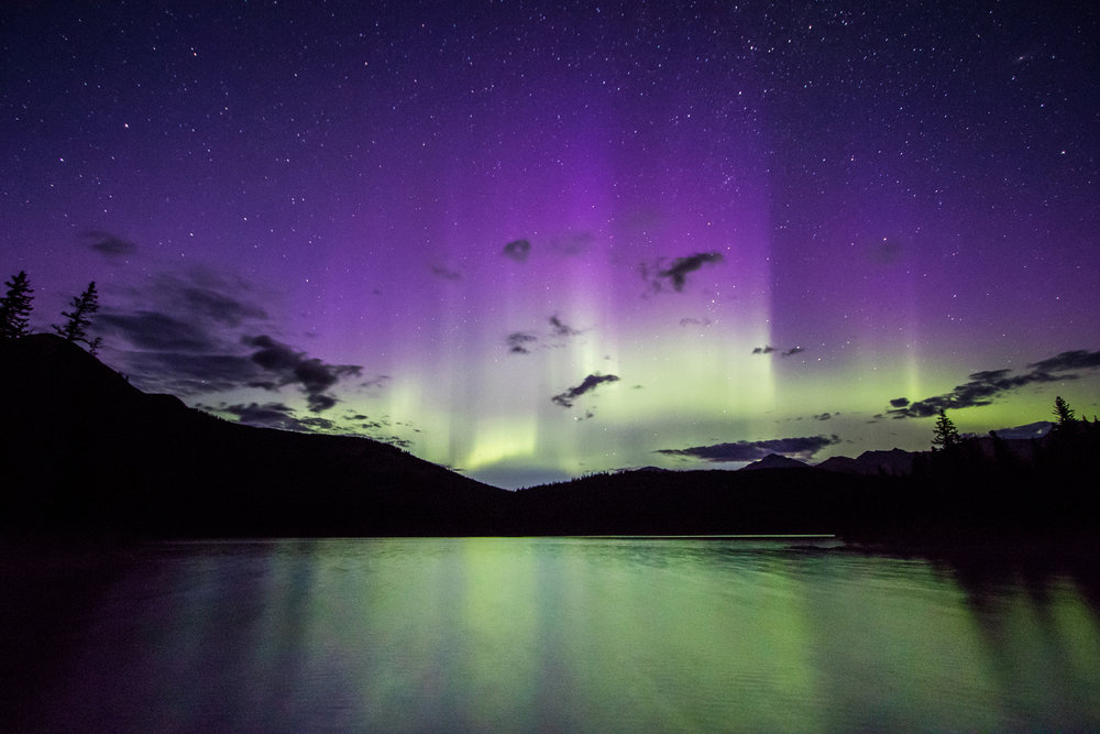 Auroras on The Athabasca
