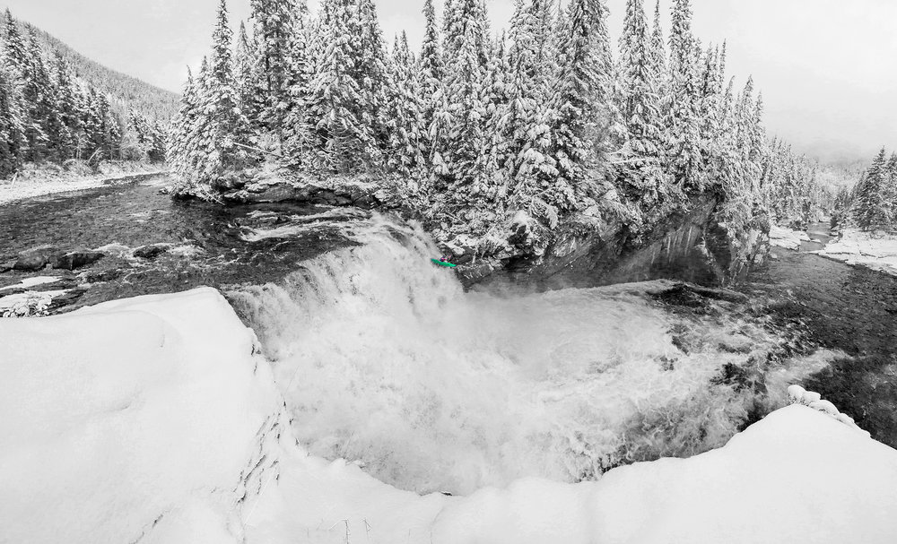 Ethan Begley at Overlander Falls