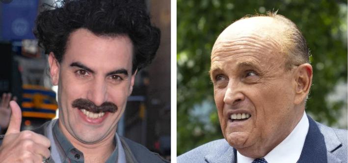 Borat 2 Rudy Giuliani Was Caught Fondling Actress Posing As Borat S Daughter World Of Reel