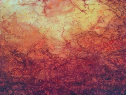 101 Fire and Ashes preliminary study 1(Silk dye and soy wax on pongee silk).jpg