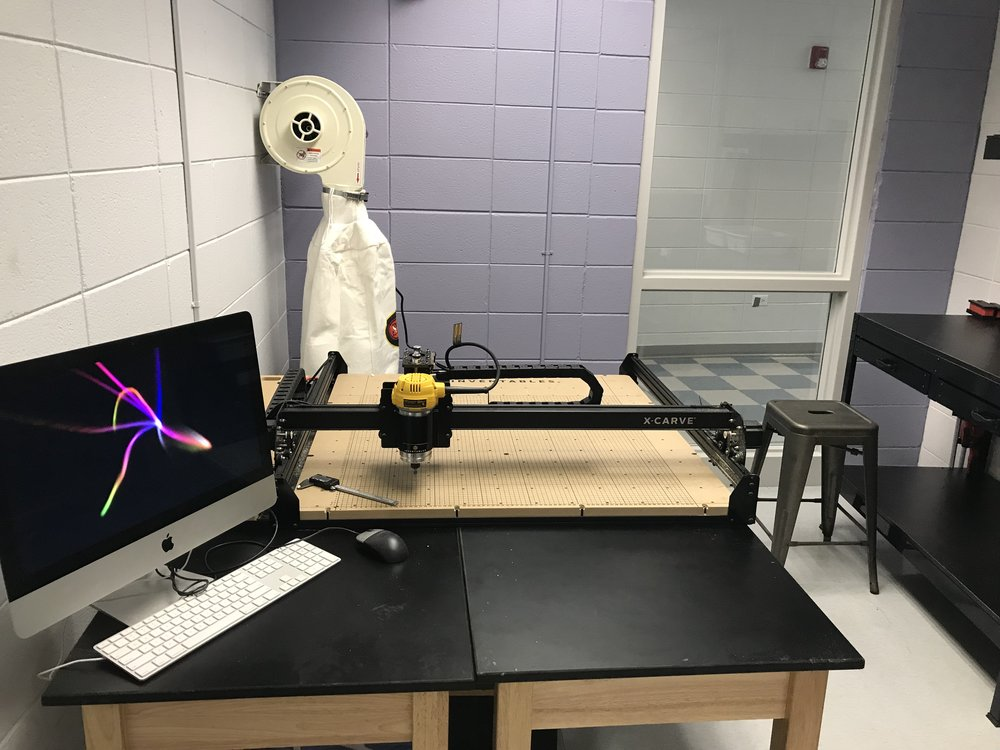 X-carve, and woodworking room