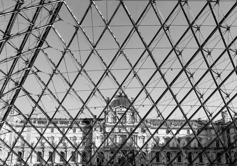 Inside Louvre Pyramid
