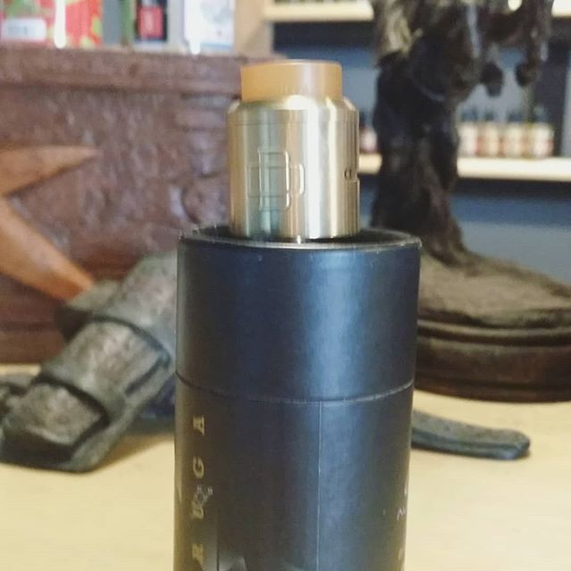New is stock Augvape Druga RDA,  clean 2 post design makes for a simple build deck. Deep juice well so no need to worry about over dripping .. smooth adjustable airflow for a great flavor and cloud. Come check these guys out ! #augvape #vapenation #clouds #vapelife #ejuice #druga #flavorchaser #cloudchasing