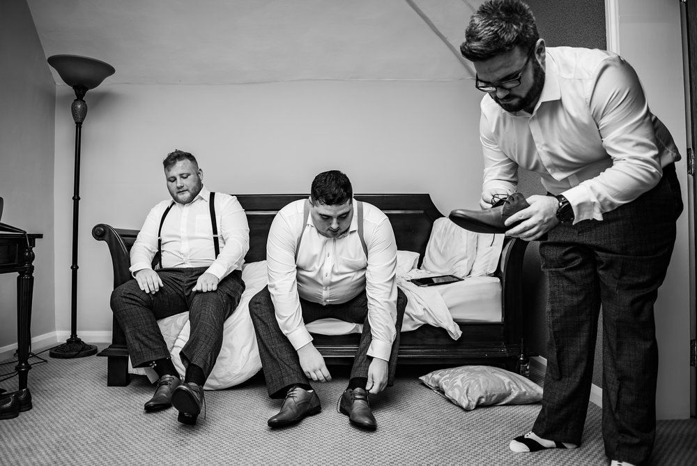 wedding photography groomsmen black and white dana lewis