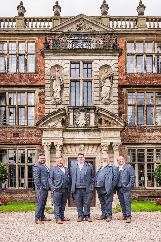 Birmingham wedding photography castle bromwich hall gardens, groom and groomsmen