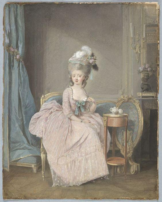 Lady Drinking Tea, του Γάλλου Nicolas Lavreince,(1737 - 1807)