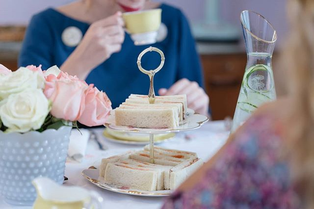 ☕A cup of tea that will put a smile on your face! 😊 Come check out our new Tearoom and book your afternoon tea party! . . . . #tea #teatime #tealover #afternoontea #vintagelove 📸 Photo @thodorismarkou 👗Dress @lacocotteathens 😍 Model @tomboy.cat
