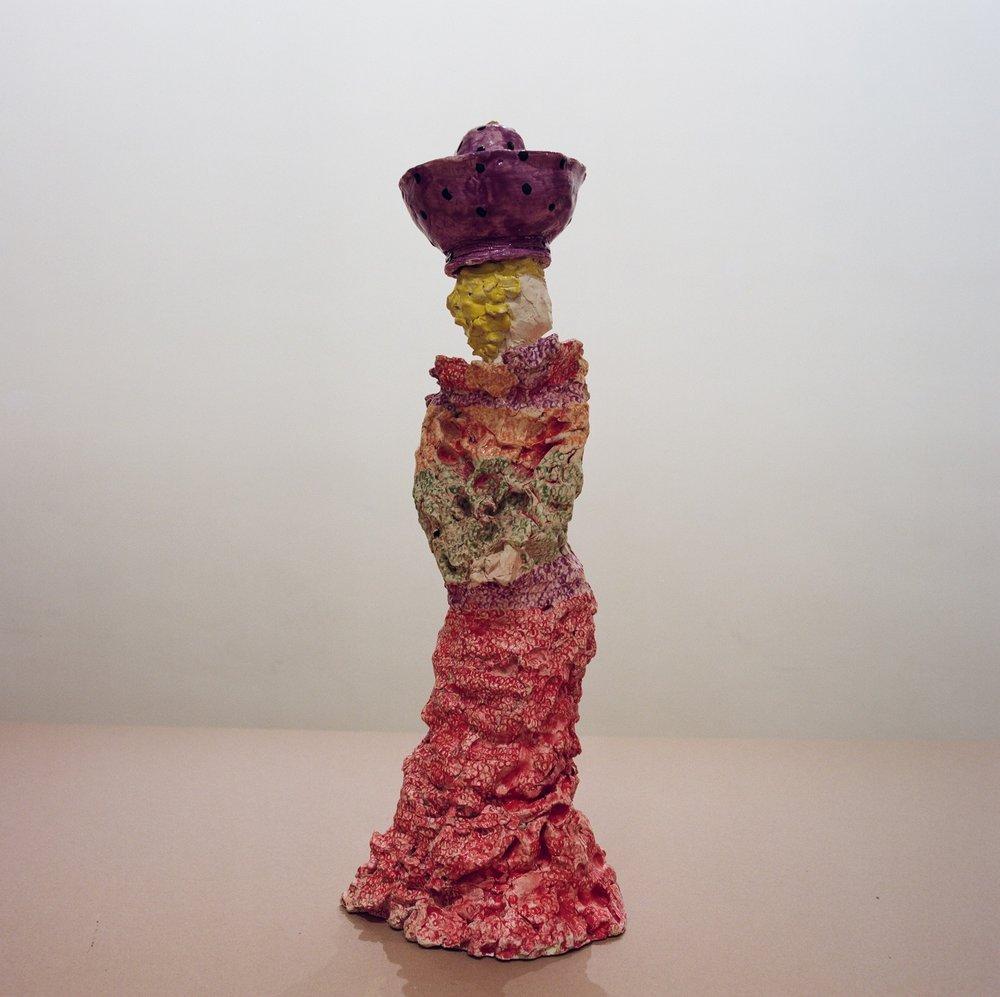 Yvonne  2012 Clay, glazed 60 cm