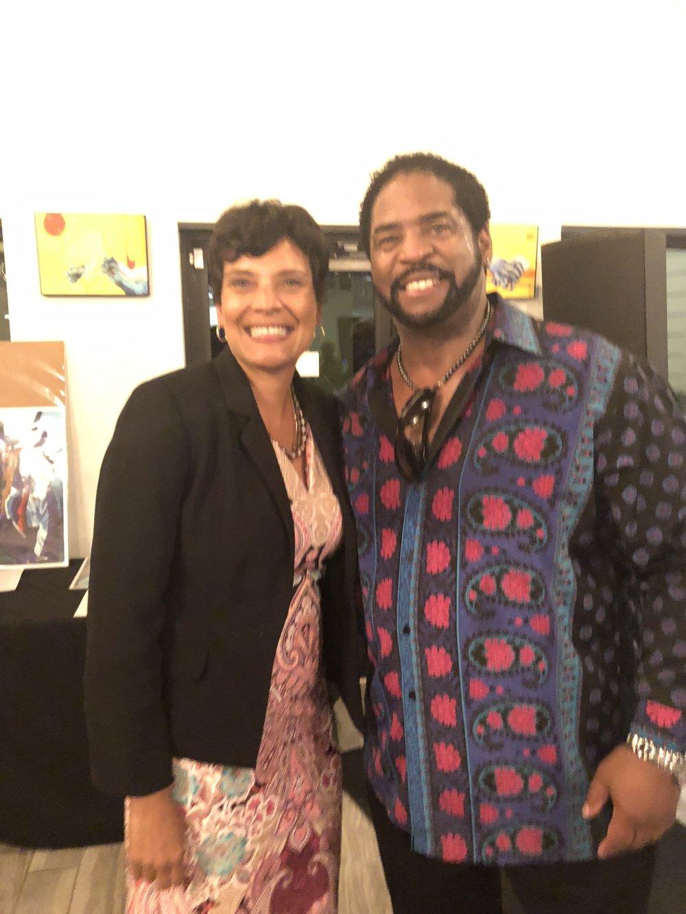 Dr. Peg and R+B artist, Miles Jaye
