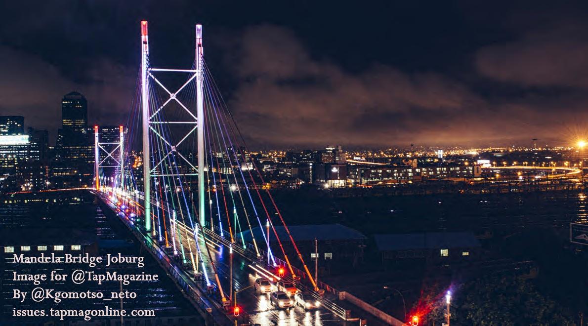 Joburg night life - Mandela Bridge + Skyline 1
