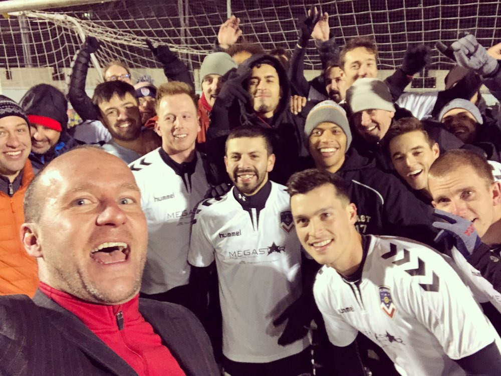 Me & Our Open Cup squad celebrating a big US Open Cup qualifying victory!