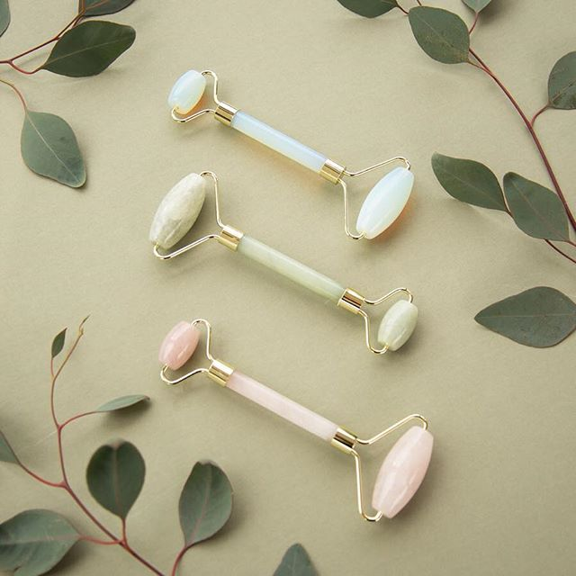 How we roll. Opalite, Jade and Rose Quartz rollers from @thedetoxmarket, available at all CG locations 💎✨