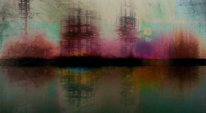 """Daniel Feldman:  """" Riverfront Project 2,"""" pigment print, 23"""" x 43""""."""
