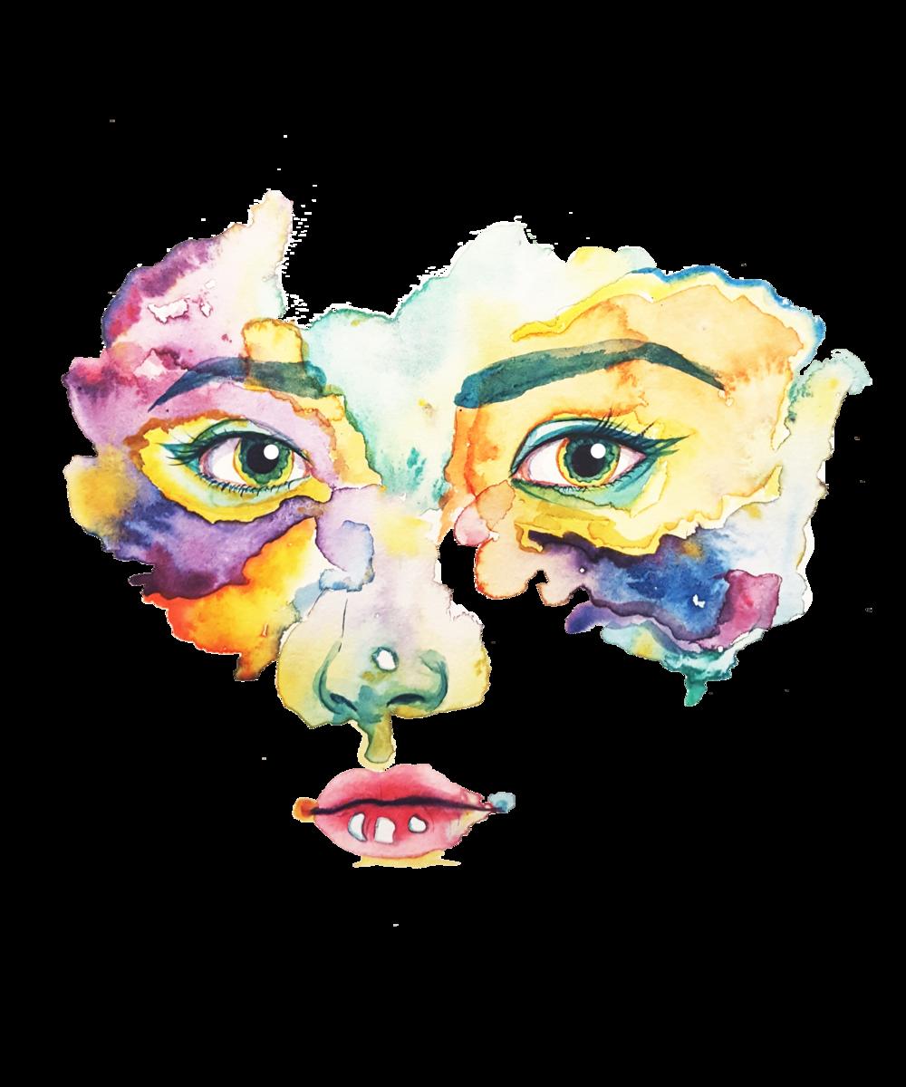 Self Portrait, Watercolor, 2017