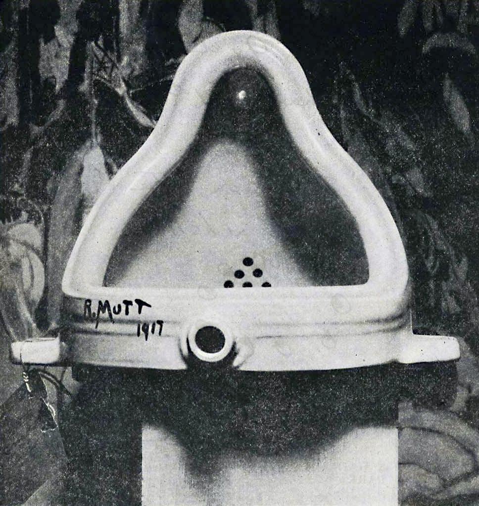 Marcel Duchamp,  Fountain  (1917).