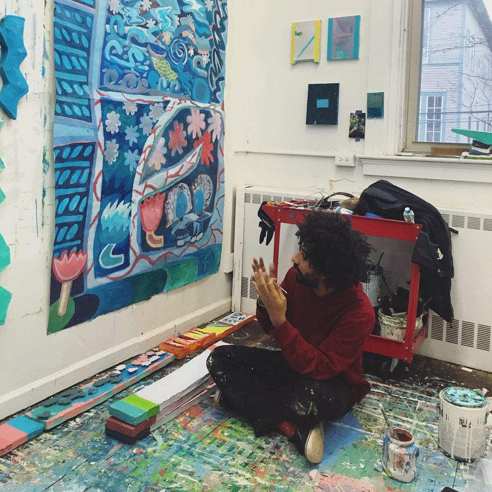 Noé Jimenez in his studio, November 2018.
