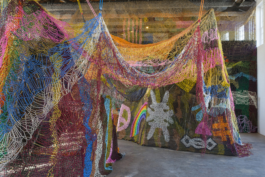 Nick Cave,  Until  (2016) installation view, MASS MoCA. Photo by James Prinz, courtesy of MASS MoCA.